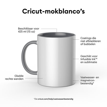 Cricut Cricut Mugs White (Cricut Mokken) 440 ml - 6 stuks   2008944