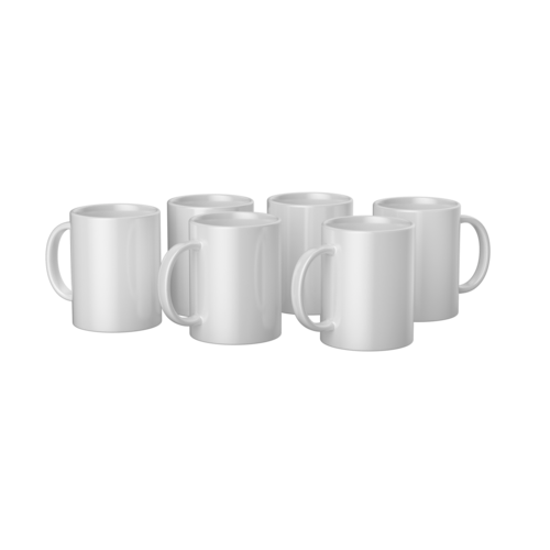 Cricut Cricut Mugs White (Cricut Mokken) 440 ml - 6 stuks | 2008944