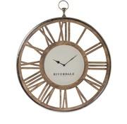 Riverdale Luton silver wall clock 70 cm
