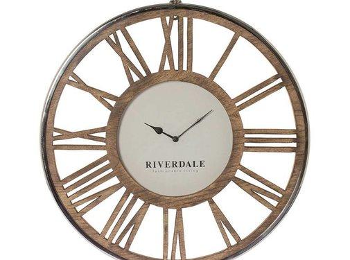 Riverdale Luton Silber Wanduhr 70 cm