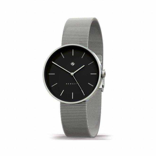 Horloge The Drumline zilver en zwart