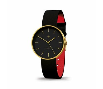 Newgate  Watch The Drumline gold and black leather