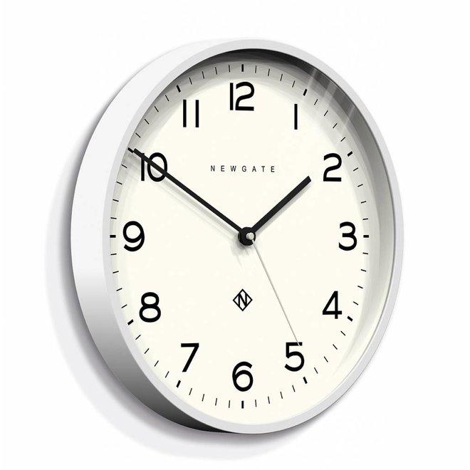 Horloge murale numéro trois Echo blanc