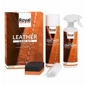 Oranje Furniture Care ® Ensemble d'entretien en cuir vintage et sablé