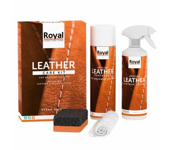 Oranje Furniture Care ® Vintage en geschuurd leer onderhoud set