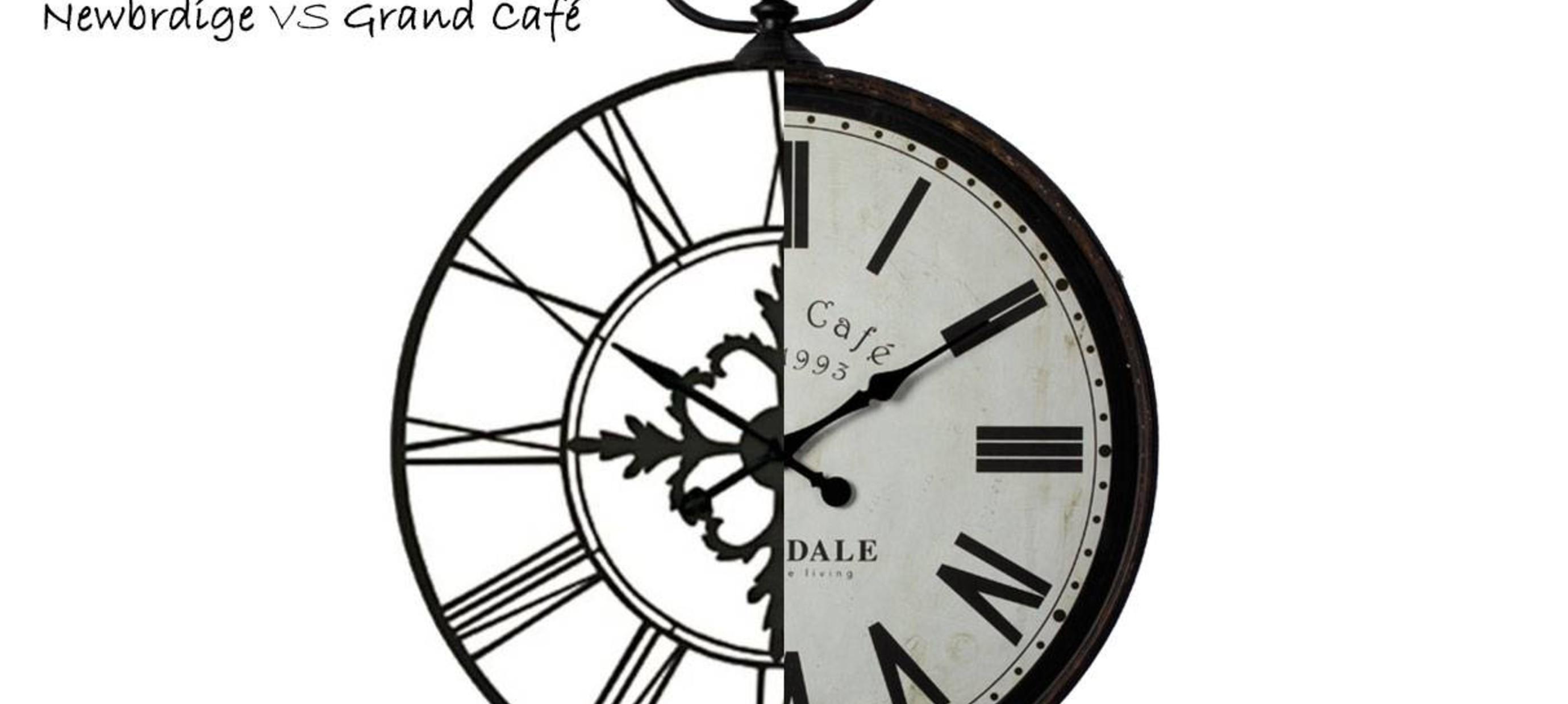Verschillen tussen de Newbridge en de Grand café klokken