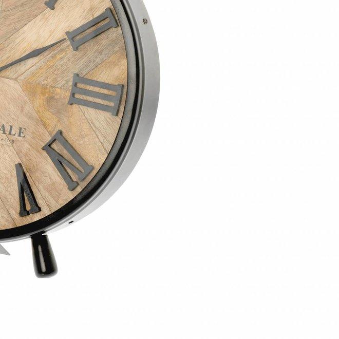 Table clock Nate brown 42cm