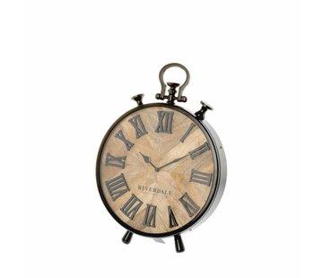 Riverdale Horloge de table Nate marron 42cm