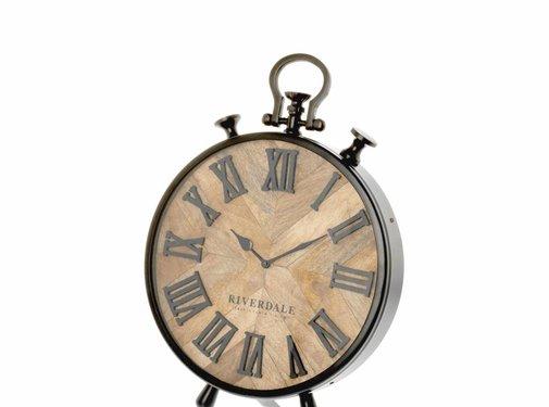 Riverdale Table clock Nate brown 42cm