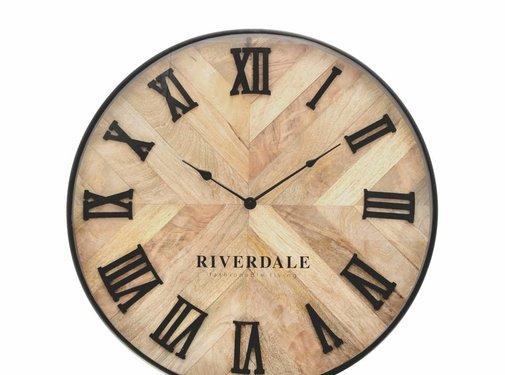 Riverdale Clock Nate brown 46cm