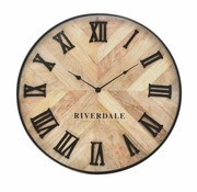 Riverdale Clock Nate brown 60cm