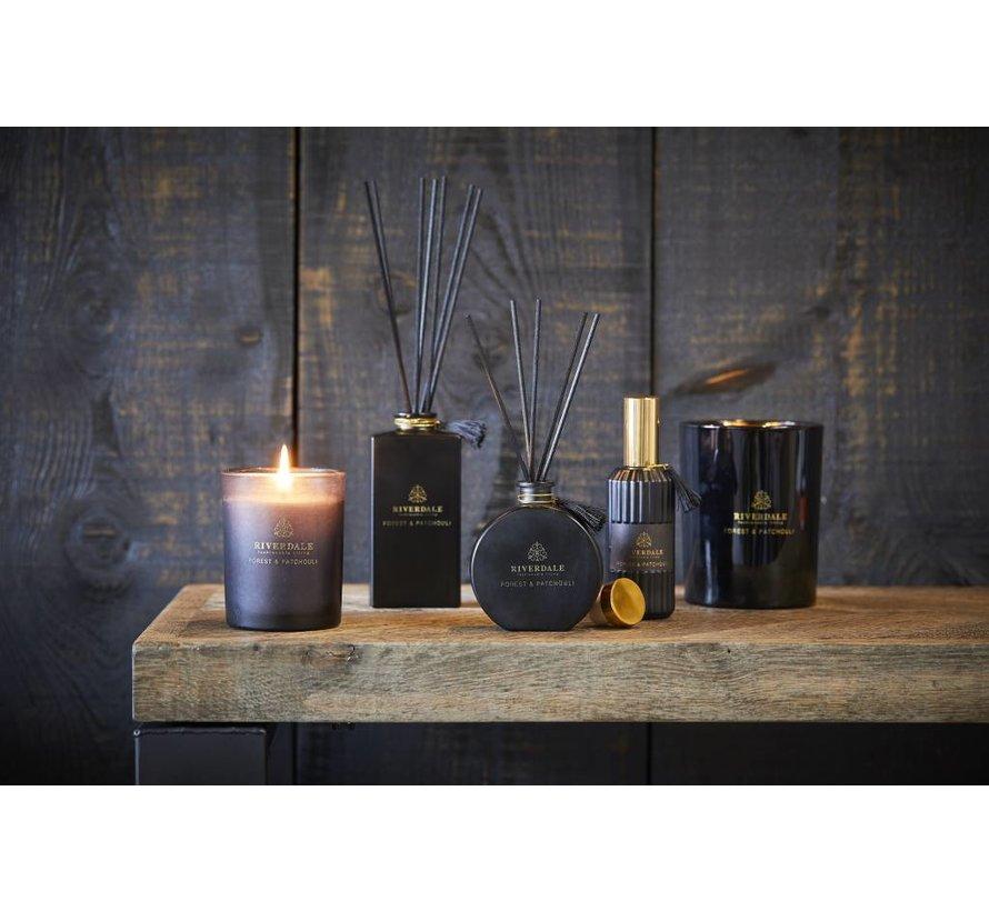 Geurstokjes Couture zwart Forest & Patchouli 140ml