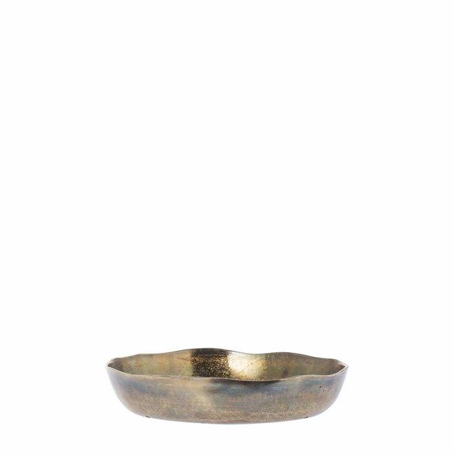 Schaal Oxford antiek goud 30cm