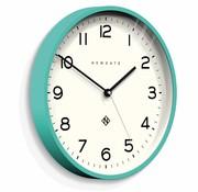 Newgate  Wall clock Number three Echo aquamarine