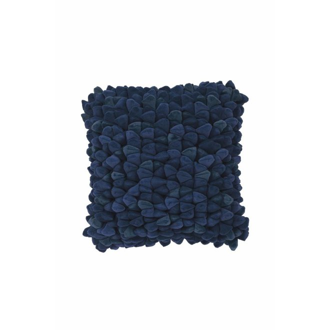 Kussen Pebble blauw 45x45cm