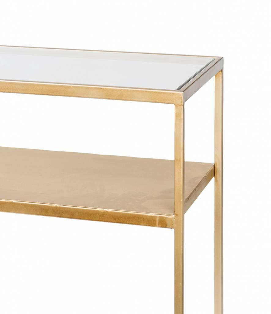Tafel Elano goud 120cm