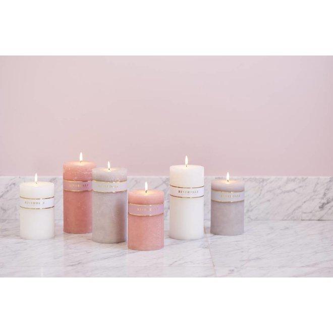 Candle Pillar Basic Weiß 10x20cm