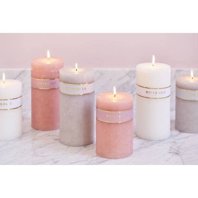 Candle Pillar Basic Pastellgrün 10x15cm