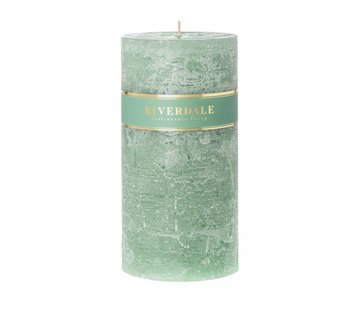 Riverdale Candle Pillar basic pastel green 10x20cm