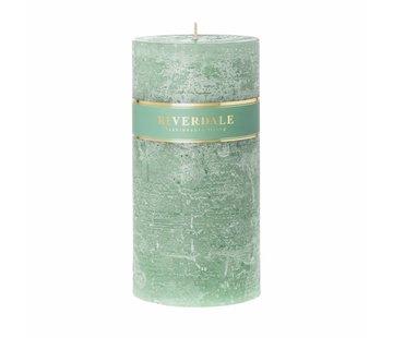 Riverdale Kaars Pillar basic pastel groen 10x20cm