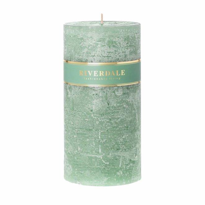 Kaars Pillar basic pastel groen 10x20cm