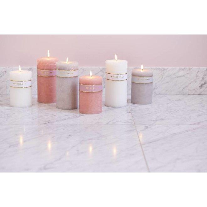 Kerzensäule basic weiß 10x15cm