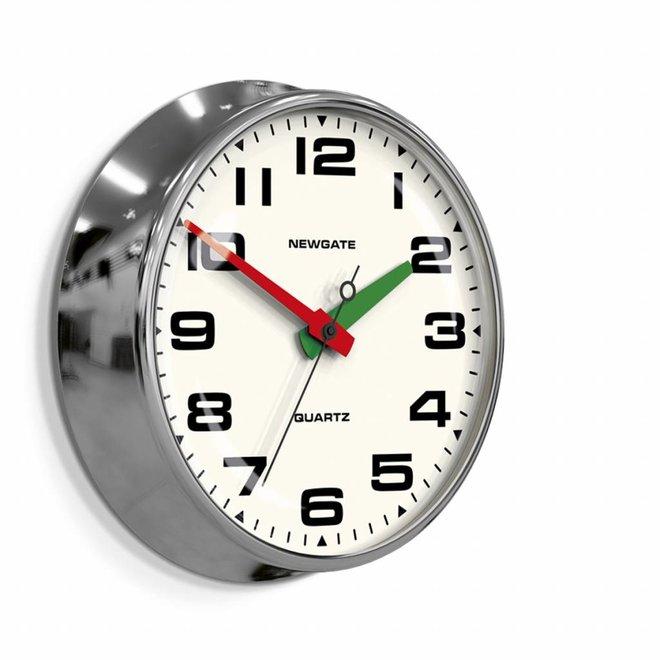 The Brixton clock chrome