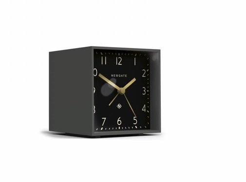 Newgate  The Cube wekker klok zwart