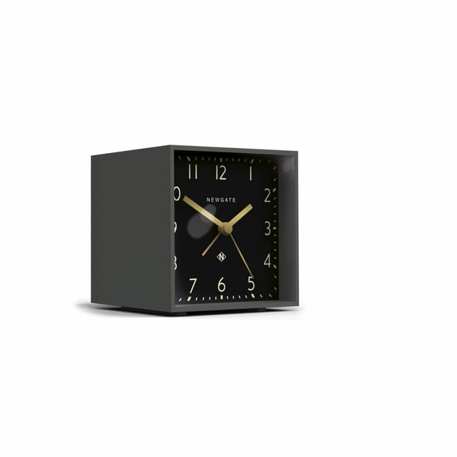 The Cube alarm clock black