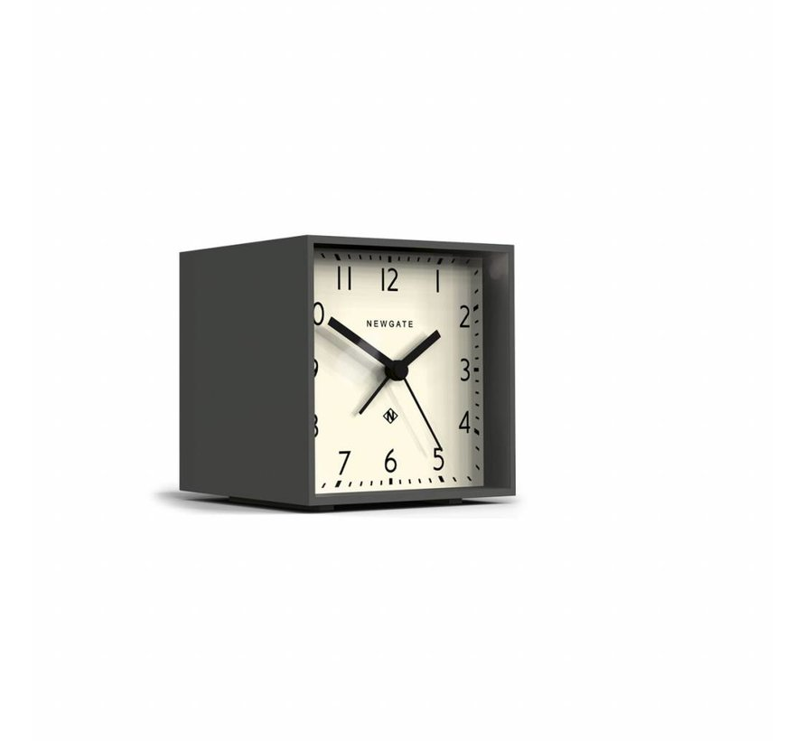 The Cube wekker klok wit & grijs