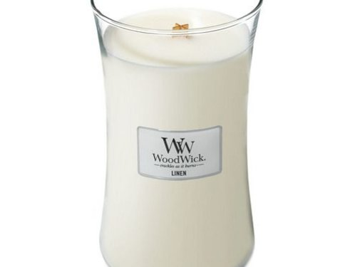 Woodwick Linen Large Candle