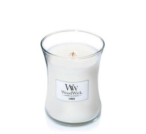 Woodwick Linen Medium Candle