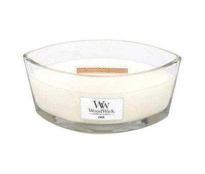 Woodwick Linen Hearthwick Ellipse Candle