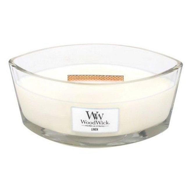 Linen Hearthwick Ellipse Candle