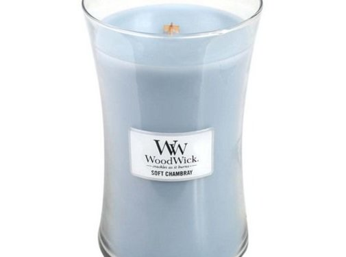 Woodwick Soft Chambray Large Candle