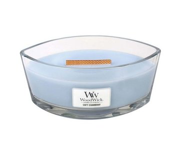 Woodwick Soft Chambray Hearthwick Ellipse Candle