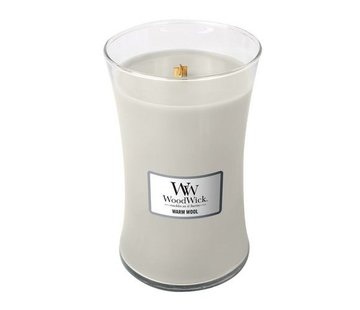 Woodwick Warme Wolle große Kerze