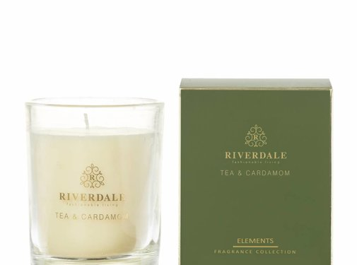 Riverdale Scented candle Elements green 10cm