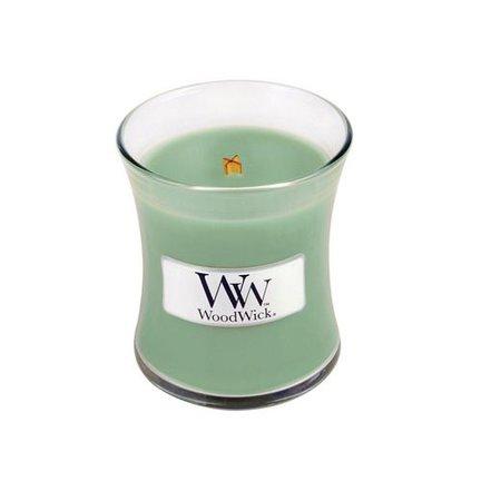 Woodwick White willow Moss Kaarsen