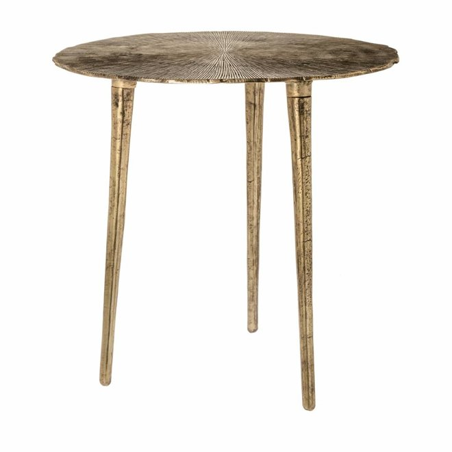 Side table Phyllon gold 50cm