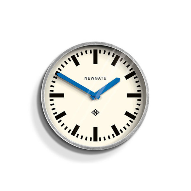 The Luggage wall clock blue