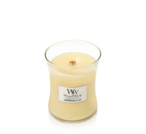 Woodwick Lemongrass & Lily Medium Candle