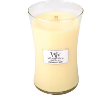 Woodwick Lemongrass & Lily Large Candle