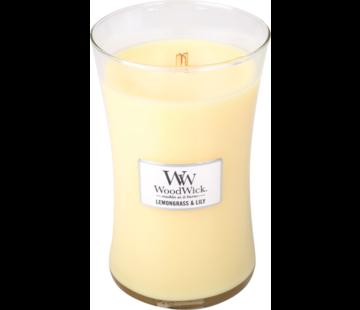 Woodwick Lemongrass & Lily Large Candle