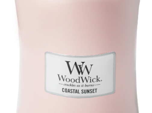 Woodwick Küstensonnenuntergang Große Kerze