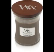 Woodwick Bougie moyenne en bois flotté et sable
