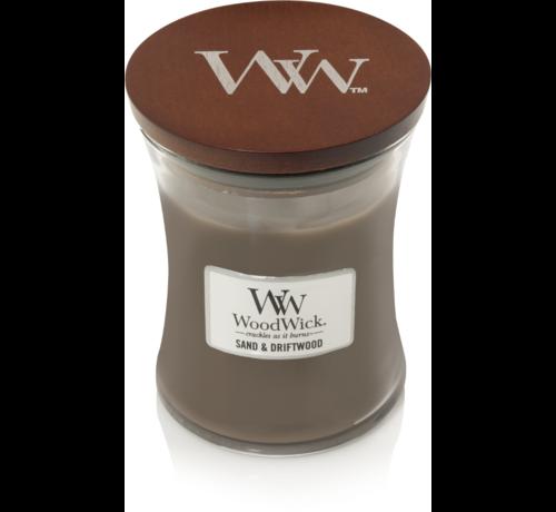 Woodwick Sand & Treibholz mittlere Kerze