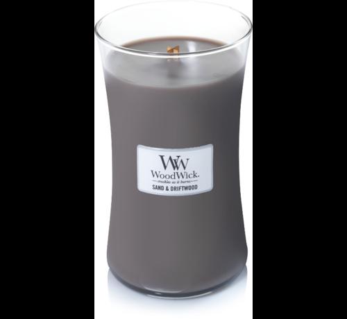 Woodwick Sand & Treibholz große Kerze