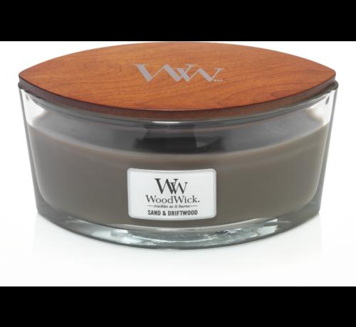 Woodwick Sand & Driftwood Hearthwick Ellipse Candle