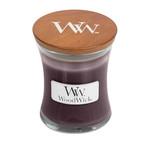 Woodwick Black Plum cognac kaarsen